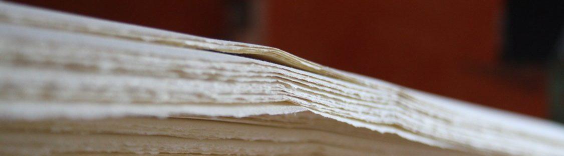 libro carta fatta a mano