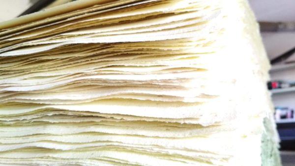 Carta fatta a mano biologica